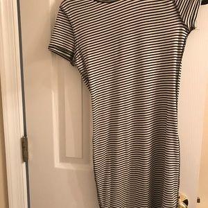 Dresses & Skirts - Black and white striped T-shirt dress